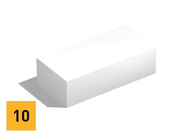 Silka fasadni blok - oblaganje fasadnih zidova Silka blokovima omogućava dodatnu zvučnu izolaciju i protivpožarnu zaštitu. Preciznom ugradnjom Silka fasadnih blokova dobija se fasada jedinstvenog izgleda, otporna na sve vremenske uticaje.