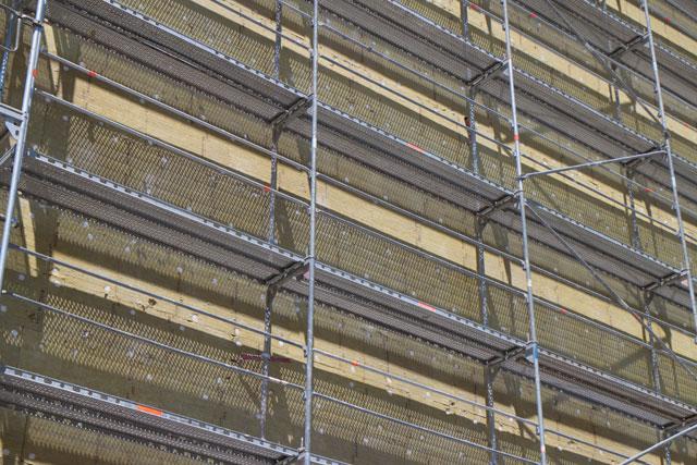 ETICS fasada, obnova, gradilište