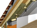 Kosi krov - izolacija između greda (Multirock, Airrock LD, Airrock ND)