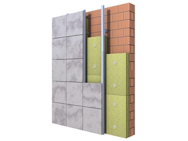 Ventilisana fasade - dvoslojne gustine (Ventirock Due)