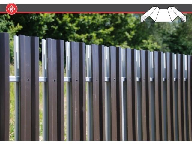 Pan metalne letvice za ogradu - Pažljivo dizajnirane Pan letvice za ogradu svojim oblikom i bojom obezbeđuju izuzetnu čvrstinu i jedinstven vizuelni efekat. Letvice se mogu montirati horizontalno ili vertikalno i kombinovati na brojne načine zahvaljujući proporcionalnosti segmenata koji se savršeno uklapaju pri spajanju. Letvice se izrađuju u dužinama 80, 100 i 120 mm i to u boji, dezenu i teksturi materijala koju zahteva kupac.