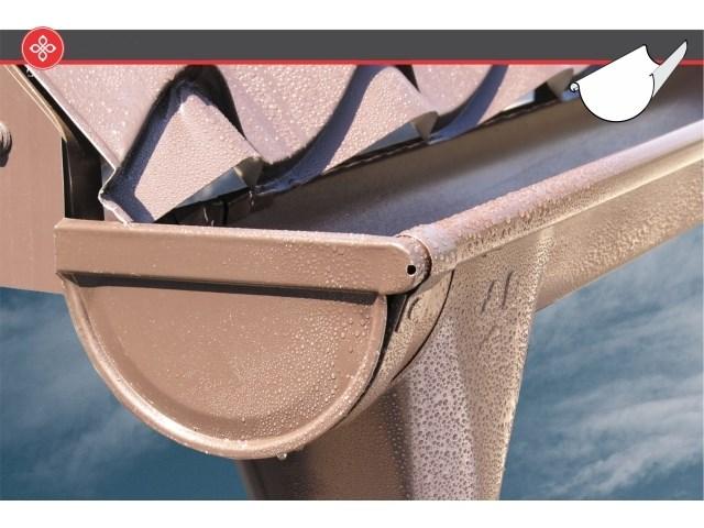 Pan oluci i olučni sistemi - Pan oluci izrađuju se na automatizovanim linijama u dužinama 4, 5 i 6 metara u promeru od Ø100 mm od pocinkovanih bojenih i nebojenih limova. Za smanjenje oštećenja prilikom ugradnje i manipulacije zadužena je UV stabilna zaštitna folija nalepljena na spoljnu stranu oluka. Iz Pan Komerc bogatog asortimana možete se snadbeti i svom neophodnom galanterijom za ugradnju olučnih sistema, i dopunskim elementima kao što je zaštitna mreža protiv lišća.
