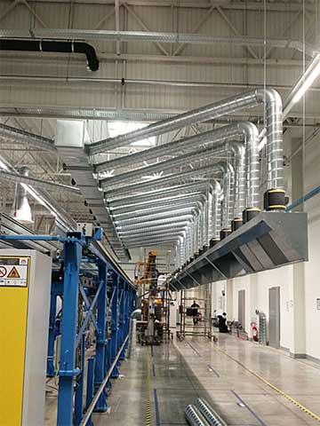 Leoni, Kraljevo - ventilacioni sistem izveden sa 40 Ruck EtaMaster ventilatora