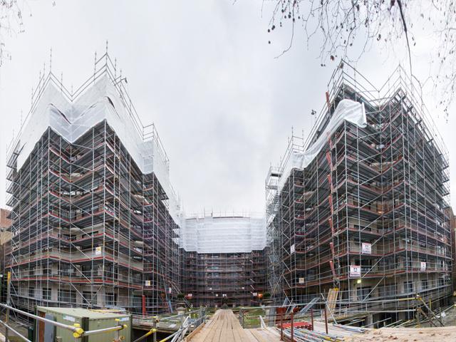 Layher Allround skela - Arlington House u Londonu 2