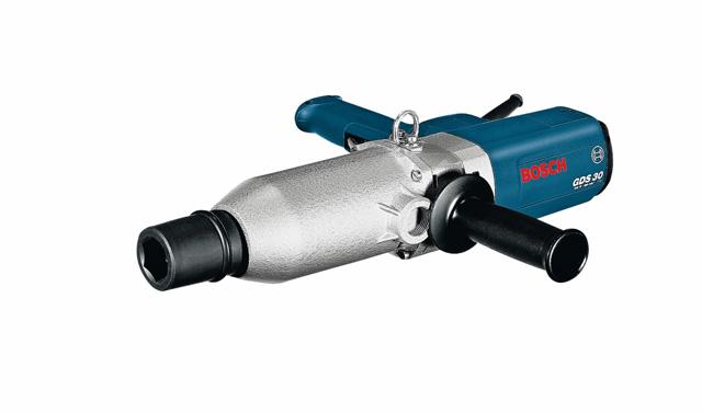 Udarni odvrtač GDS 30 - Snažan aparat za veliki broj uvrtanja vijaka; Za teške spojeve pomoću vijaka na teretnim vozilima, građevinskim mašinama, u proizvodnji komercijalnih vozila, u teškoj industriji i petrohemiji; Dodatna drška sa potpornim tanjirom može da se montira na dva mesta za bolje rukovanje; Naprava za vešanje koja se pričvrsti na razvlačnoj opruzi; Udarni mehanizam sa V-žlebom sa neznatnim reaktivnim obrtnim momentom i dugim vekom trajanja