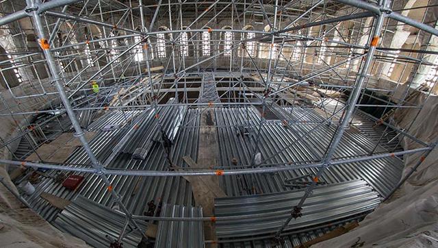 Čelična konstrukcija u Hramu Svetog Save, Beograd