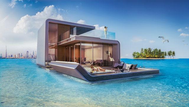 Floating seahorse villa
