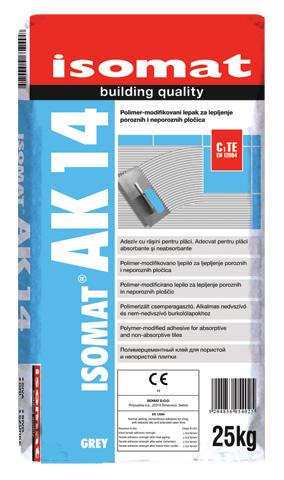 ISOMAT AK-14 - Polimer-modifikovani lepak za porozne i neporozne obloge