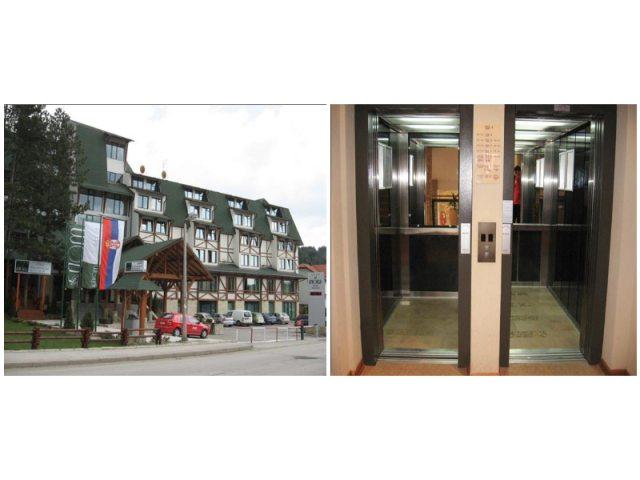 """Hotel """"Mona"""" Zlatibor, Srbija - 2 putnička hidraulična lifta i 2 električna putnička lifta, tip Line 2000"""