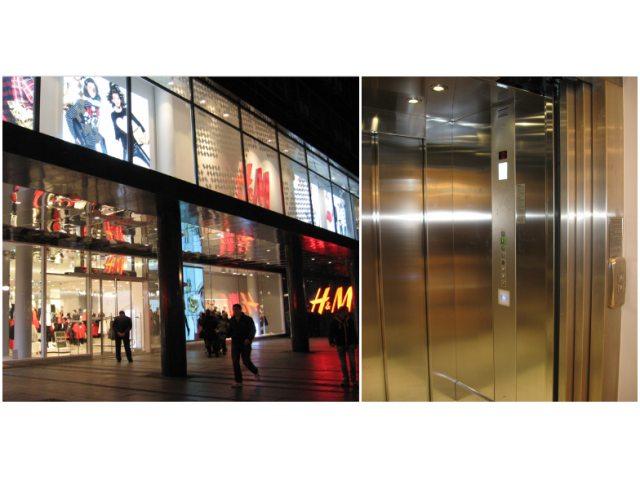 """H & M Store"",Beograd, Srbija - Modernizacija postojećeg lifta"