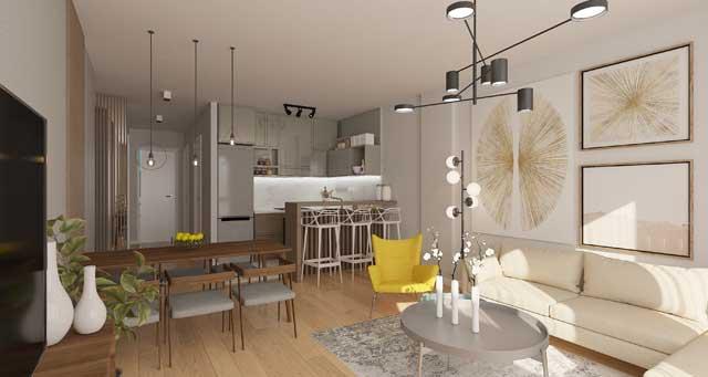 Kisačka 66, Novi Sad - stan 10 dnevna soba - u izgradnji - završetak planiran za jesen 2022. godine - arhitekta: Lazar Kuzmanov sa saradnicima (Studio Kuzmanov & partners)