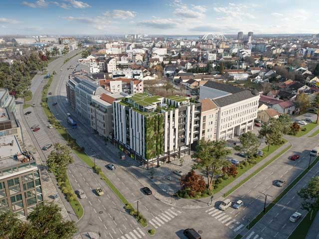 Kisačka 66, Novi Sad - u izgradnji - završetak planiran za jesen 2022. godine - arhitekta: Lazar Kuzmanov sa saradnicima (Studio Kuzmanov & partners)