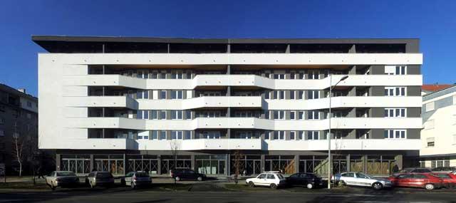 Stambena zgrada - Laze Nančića 2-4 - završetak radova 2014 - 5100m² - arhitekta: Lazar Kuzmanov