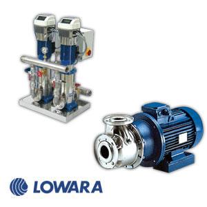 LOWARA - Razne pumpe za vodu, jednostepene i višestepene horizontalne i vertikalne, bunarske pumpe, hidrofori sa i bez frekventnih regulatora HYDROVAR, protivpožarna postrojenja, procesne pumpe