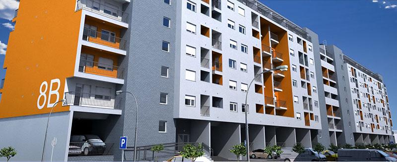 """Stambeno naselje """"Dr . Ivan Ribar"""", objekti 7-8, Novi Beograd - Površina: P=17.600,00m2"""