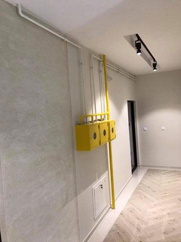 Instalacija grejanja na gas u stambenoj zgradi