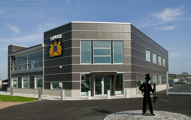 Fasadni paneli-Poslovna zgrada Chimney-sweep-headquarters, Švedska