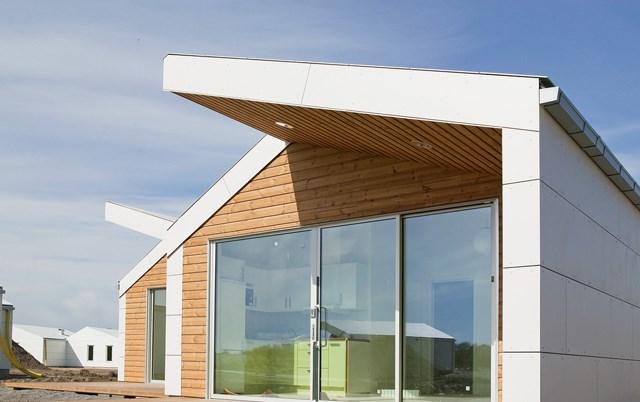 Krovni paneli sa zaštitom od vetra-Stambeni objekat Apelviken Beach Houses, Švedska