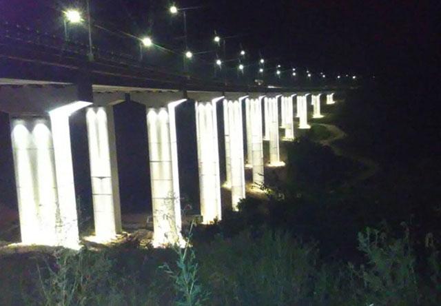 Dekorativno osvetljenje mosta Džemin Do auto-puta E75, Vladičin Han – Srbija
