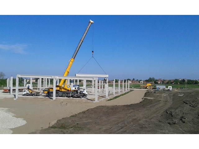IGB AUTOMOTIVE Inđija, površina 8.174,95 m² 2016. god. - Izrada, transport i montaža AB   prefabrikovane betonske konstrukcije