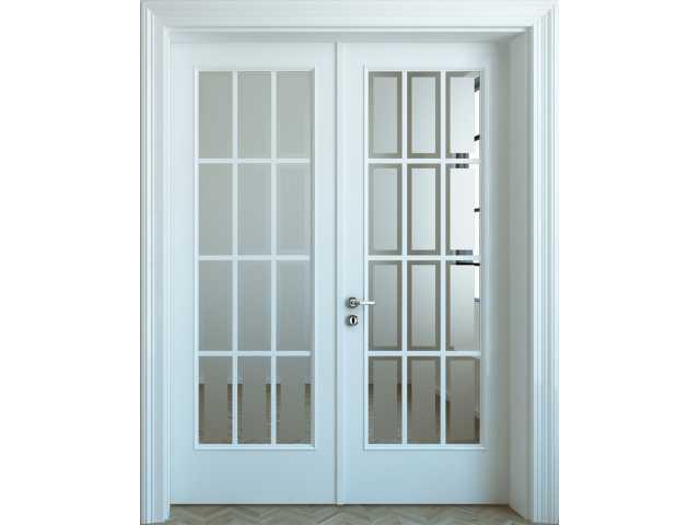 Sobna dvokrilna vrata u kombinaciji drvo-staklo