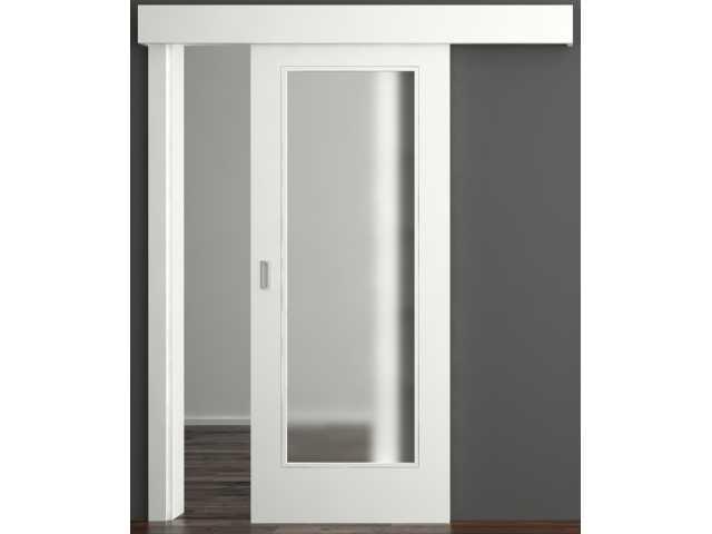 Sobna klizna vrata u kombinaciji drvo-staklo