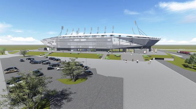 Stadion, Loznica - Projekat za građevinsku dozvolu - Gradski stadion u Loznici, kapaciteta 8.327 gledalaca /Kategorija: Javni objekti, sportski objekti /Naručilac: Grad Loznica