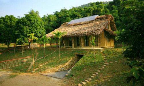 Kuća za ruralnu lokalnu zajednicu u Vijetnamu - bambus, zemlja, solar i LED -...