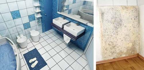 Prodor vlage kroz zid u kupatilu