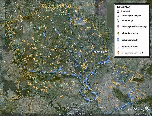 vode vojvodine mapa Površinske eksploatacije mineralnih sirovina   neiskorišćeni  vode vojvodine mapa